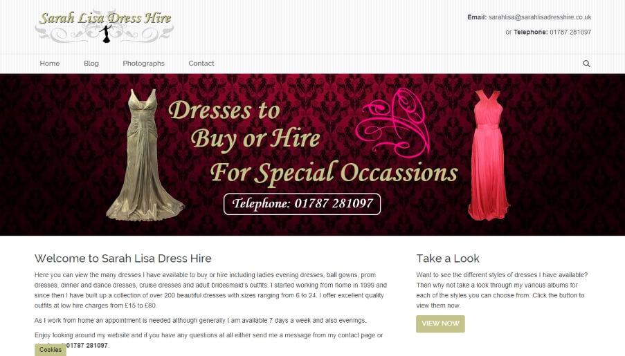Sarah Lisa Dress Hire